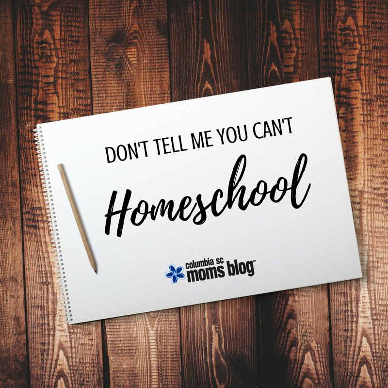 Don't tell me you can't homeschool - Columbia SC Moms Blog