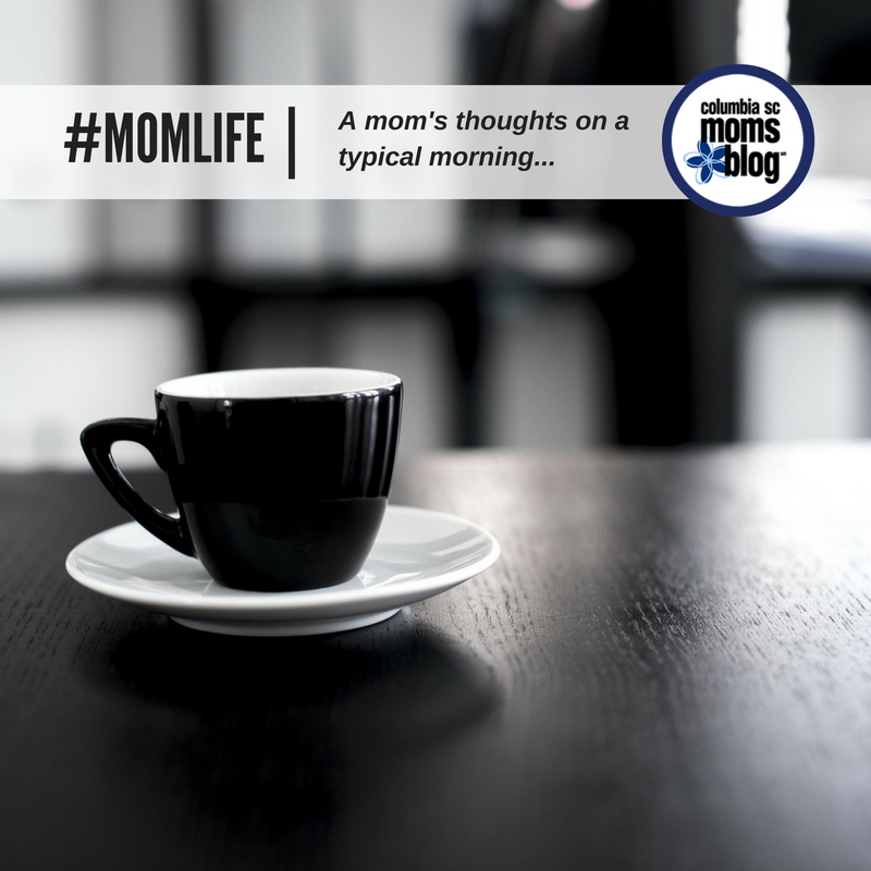 #MOMLIFE - A month's thoughts on a typical morning - Columbia SC Moms Blog