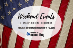 Weekend Events for Kids {Nov. 11-13} - Veterans Day - Columbia SC Moms Blog