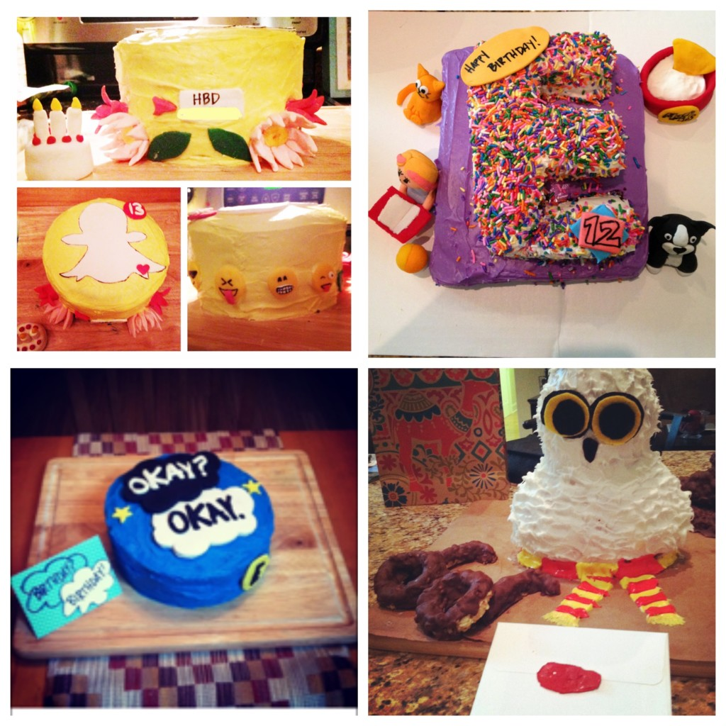 A few cakes from the past birthdays.
