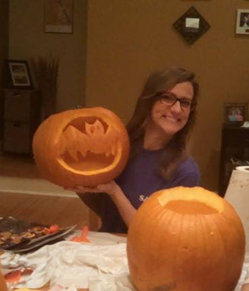 Showing off my pumpkin carving