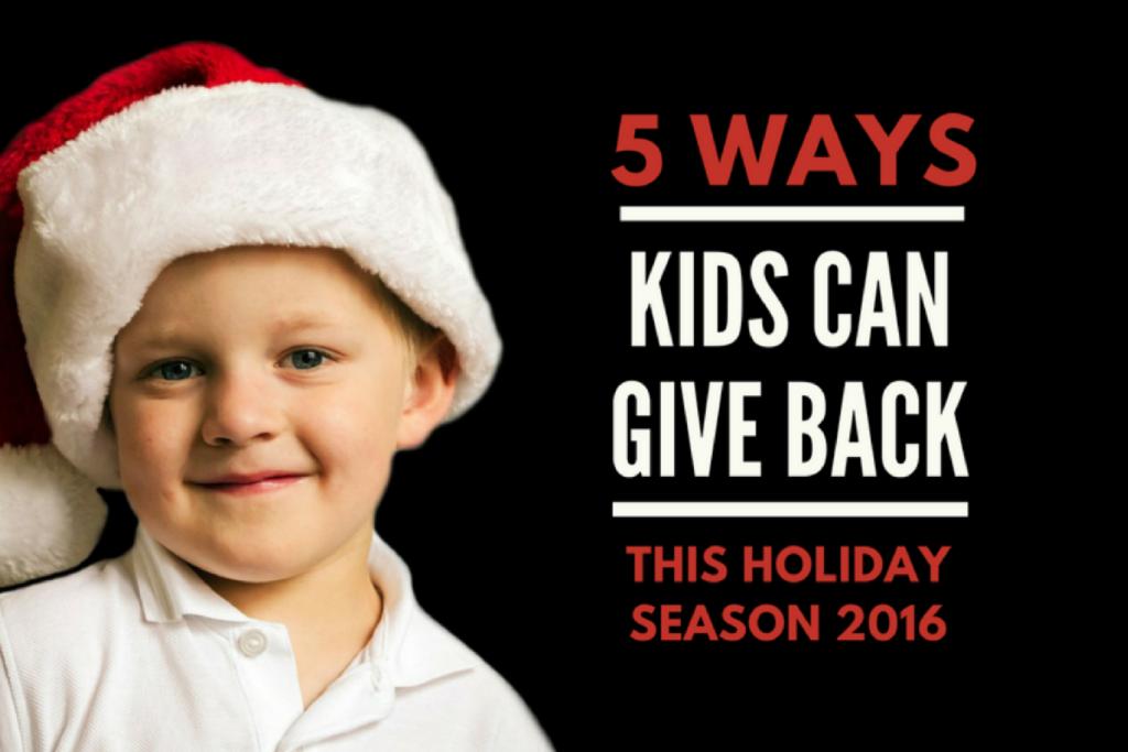 5 Ways Kids Can Give Back This Holiday Season {2016} | Columbia SC Moms Blog