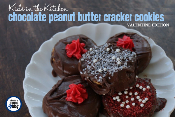 Kids in the Kitchen :: Chocolate Peanut Butter Cracker Cookies {Valentine Edition} | Columbia SC Moms Blog