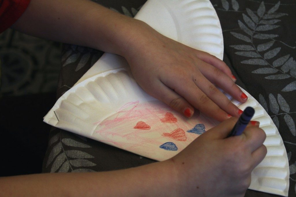 This easy Valentine's Day Craft uses items you already have at home! {Columbia City Moms Blog}