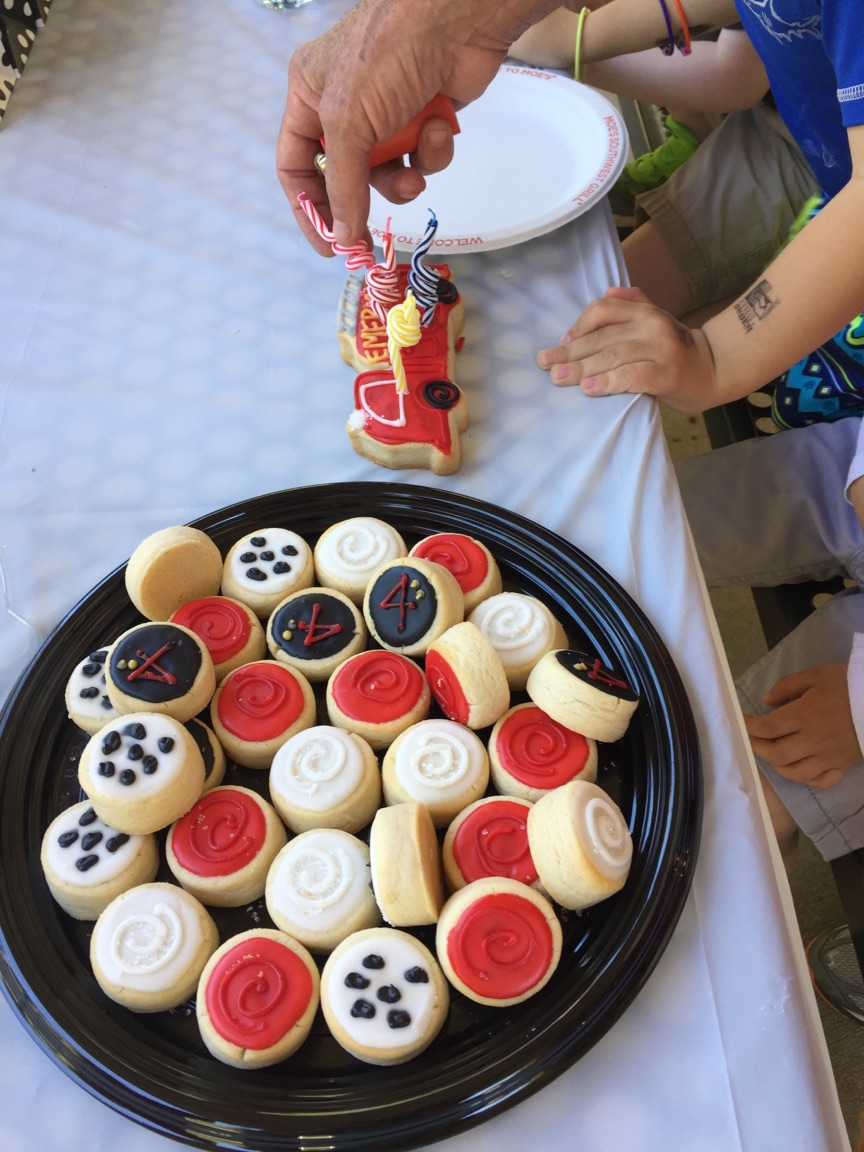 Birthday Party With Blue Flour Bakery Cookies