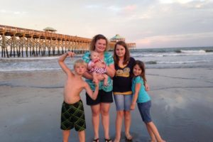 My kids and I on Folly Beach. It was the summer of 2014 and Heidi's first beach trip!