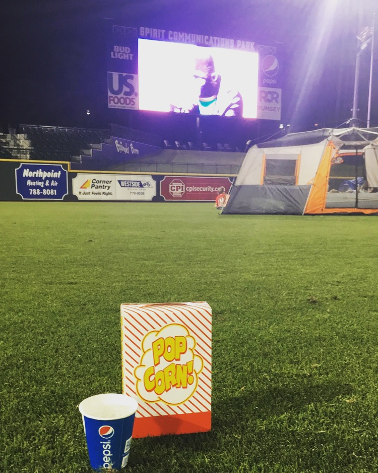 Glamping at Fireflies Baseball Stadium | 9 Fun Mommy Daughter Date Ideas Around Columbia | Columbia SC Moms Blog