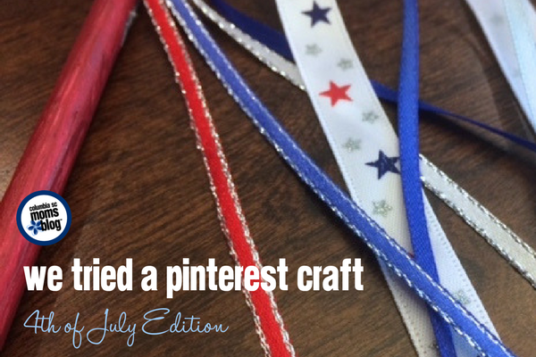 We Tried a Pinterest Craft! {4th of July Edition} | Columbia SC Moms Blog