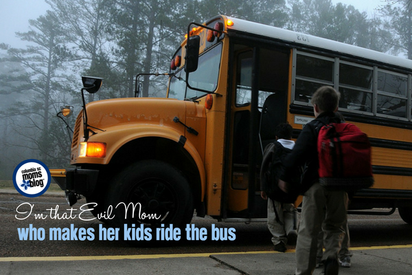 I'm that Evil Mom who Makes her Kids Ride the Bus | Columbia SC Moms Blog