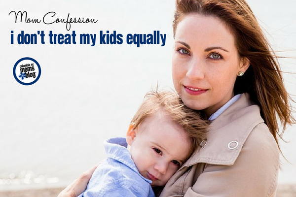 Mom Confession :: I Don't Treat My Kids Equally | Columbia SC Moms Blog