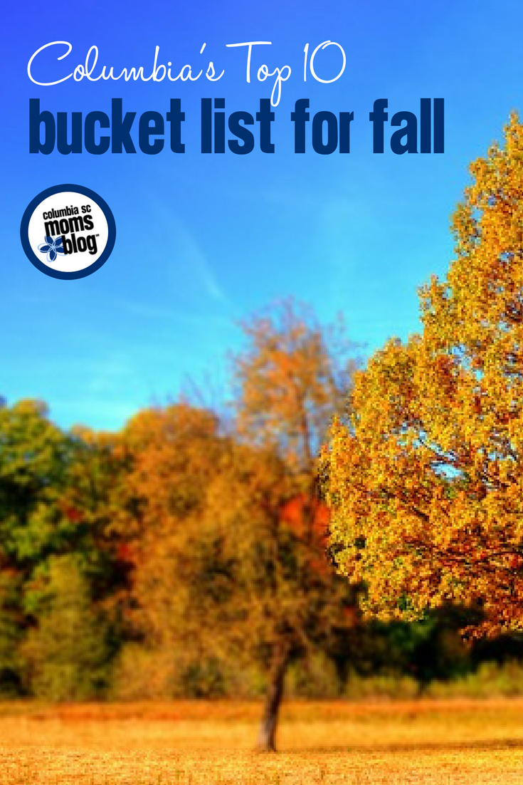 Columbia's Top 10 Bucket List for Fall | Columbia SC Moms Blog