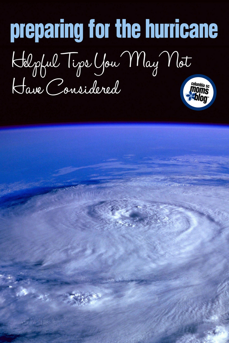 Preparing for the Hurricane :: Helpful Tips You May Not Have Considered | Columbia SC Moms Blog