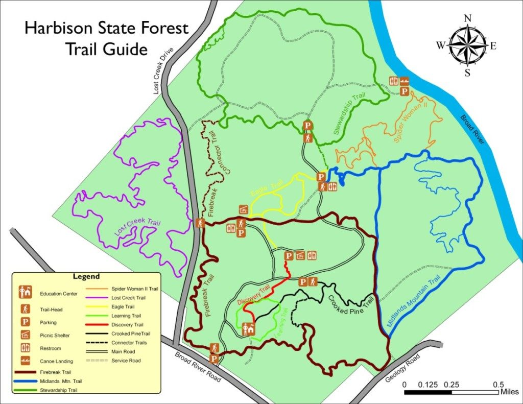 Harbison Trail Map