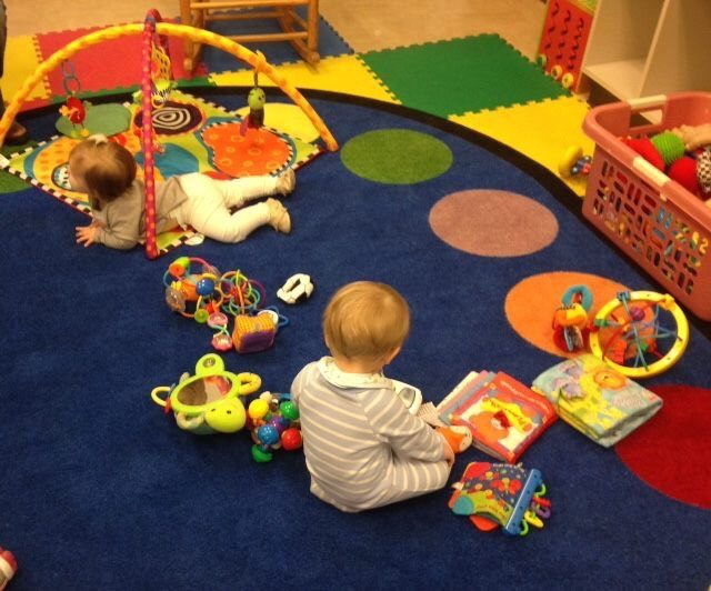 st martin's babies playing