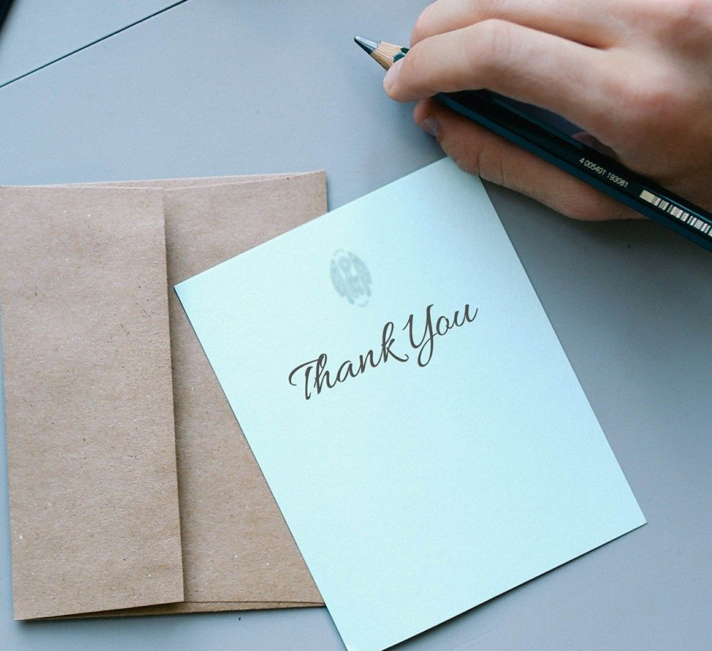 thank you note | Columbia SC Moms Blog