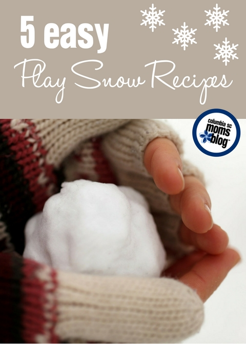 When the Snow Never Arrives :: 5 Easy DIY Play Snow Recipes | Columbia SC Moms Blog
