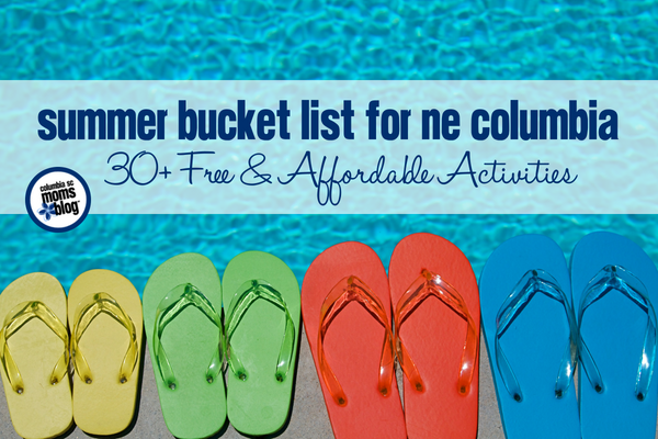 Summer Bucket List for NE Columbia - 30+ Free & Affordable Activities | Columbia SC Moms Blog